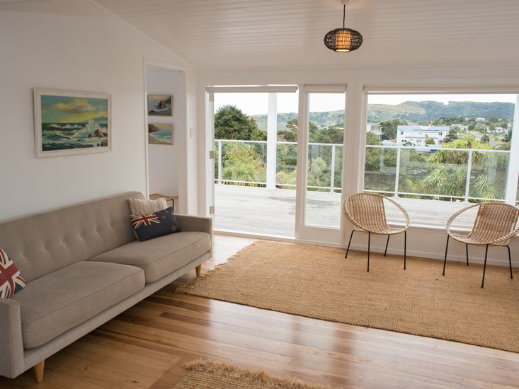 Lounge with a view over Raglan!