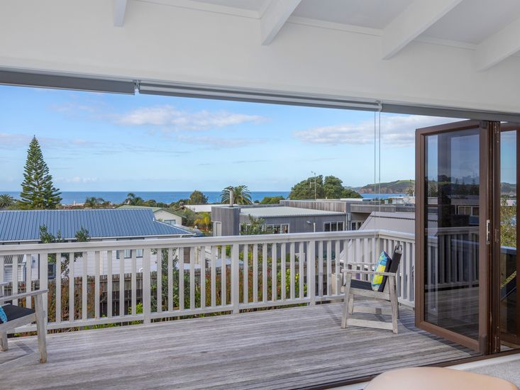 Upstairs decking and views