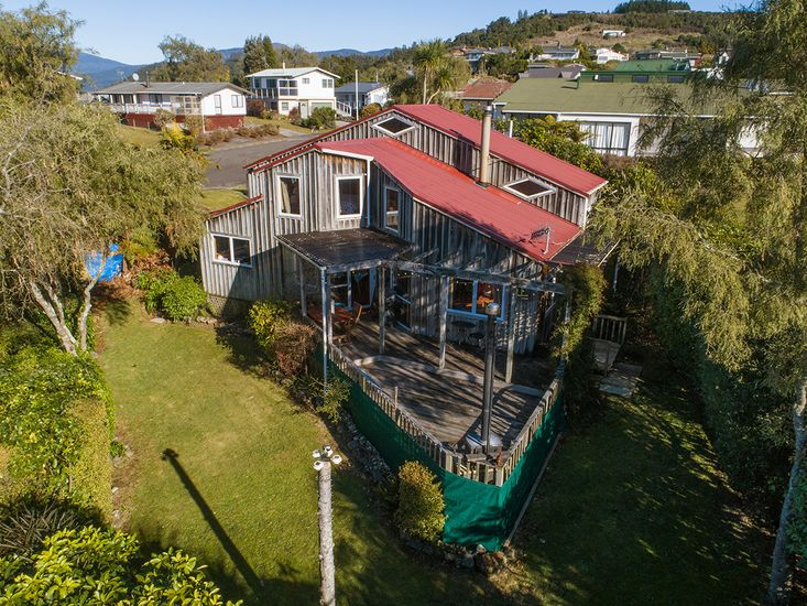 Aerial View of Kowhai Cottage