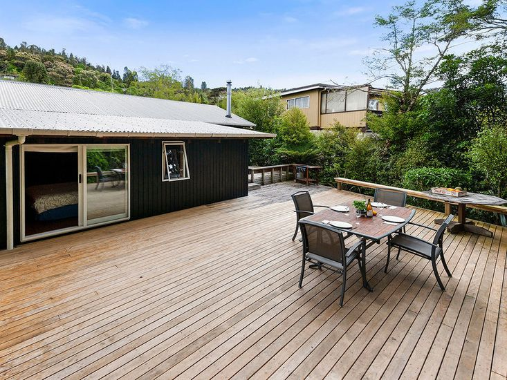 Large deck space for outdoor living and dining