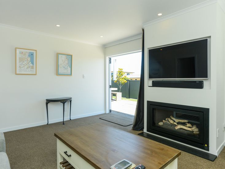 Lounge room opens out to the decking