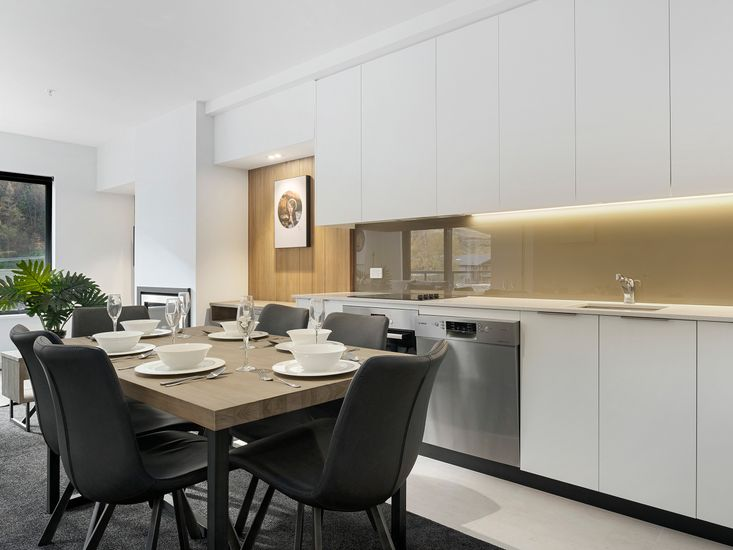 Dining table onto kitchen