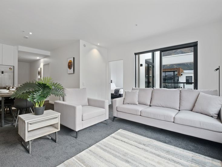 Lounge onto dining and kitchen and out to the balcony