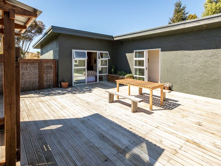 Sun drenched decking