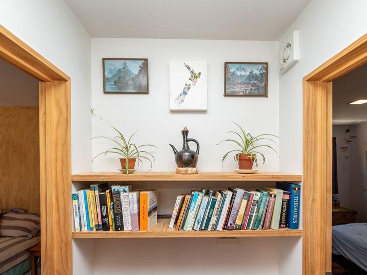 Hallway book shelf
