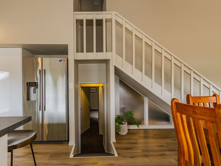 Access to the upstairs and downstairs area