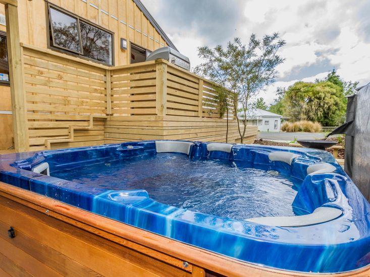 Enjoy a soak in the spa pool
