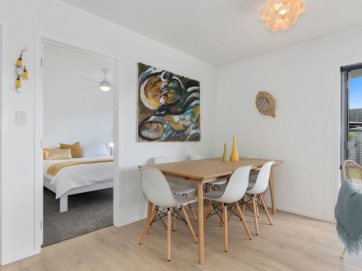 Dining table in living area