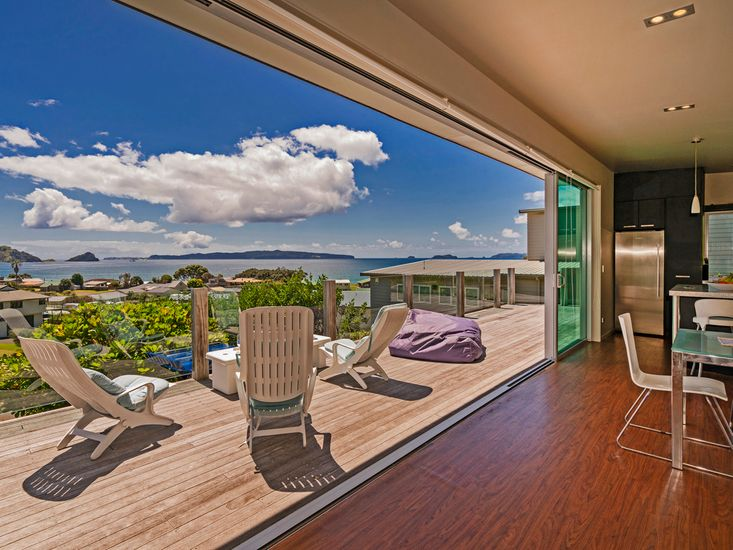 Indoor/outdoor flow onto the decking and views