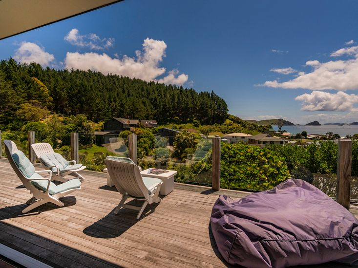 Enjoy the sun and the views from the generous deck