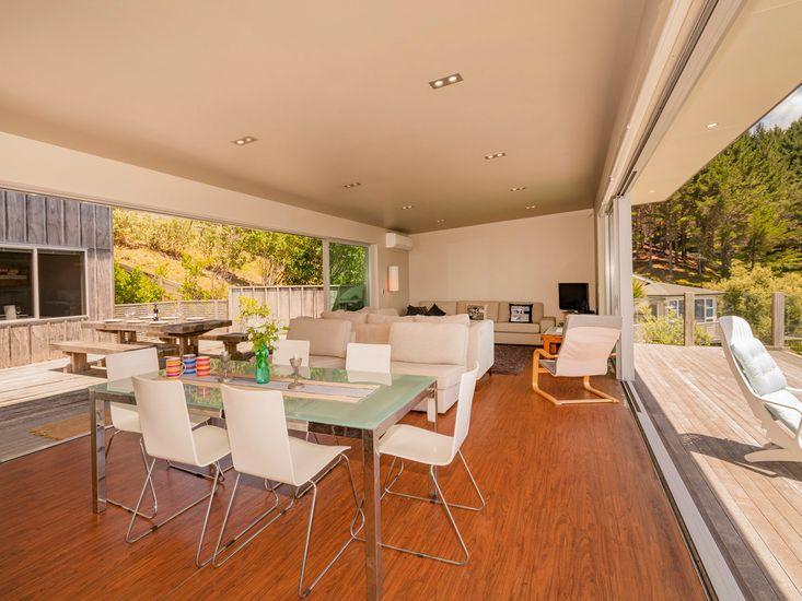 Indoor/Outdoor flow onto the decking for outdoor living