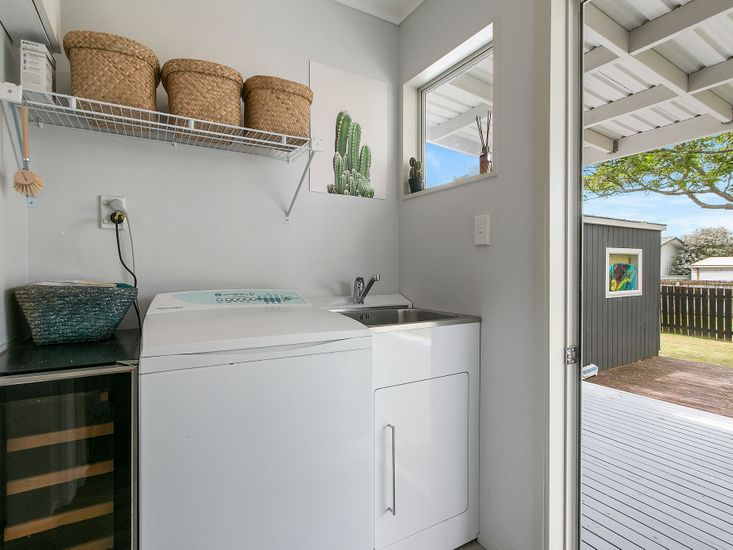 Laundry - Opens out to back deck