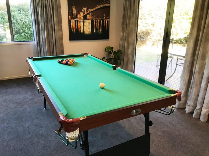 Pool Table by the Dining Room
