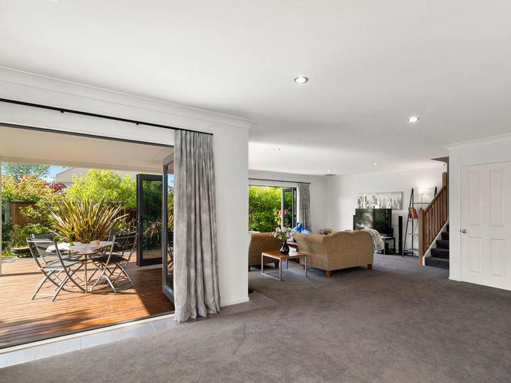 Living area opens out to sheltered decking