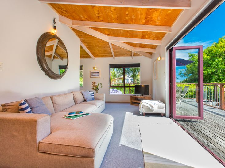 Lounge area opens onto sundeck