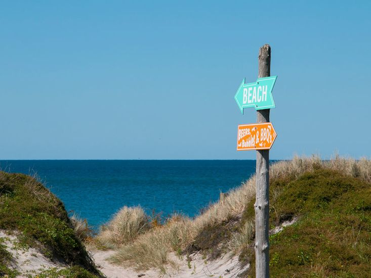 Local access to the beach - not taken from property