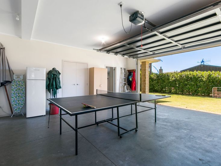 Table tennis table in the garage!