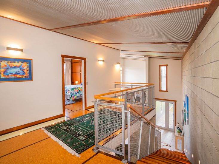 Upstairs landing onto the master bedroom