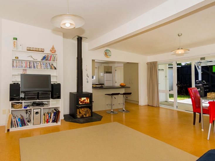 Open plan kitchen, dining and lounge