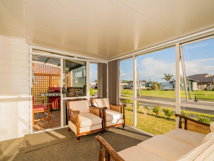 Sun room onto dedicated BBQ deck