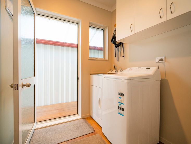 Laundry and back door with disabled access