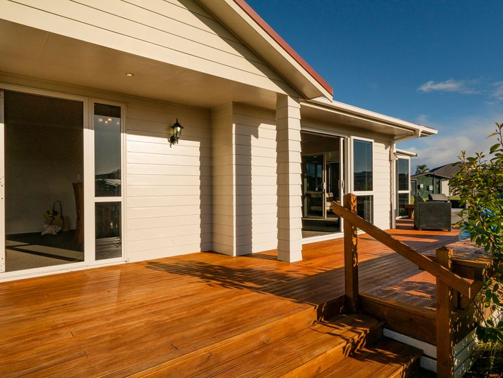 Front entrance and decking