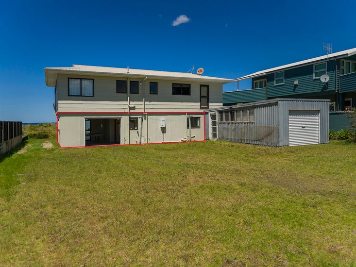 Sandy Doorstep - Please note that this property is the downstairs unit outlined in red