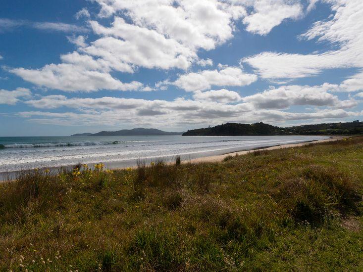 Nearby Taipa Beach (Not taken from property)