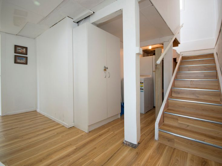 Stairs to lower level where Bedroom 2 and bathroom are located