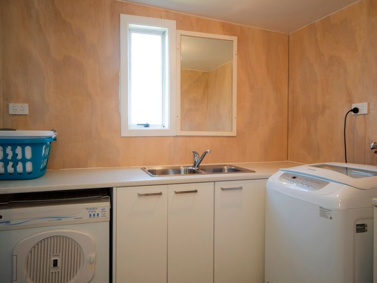 Laundry and downstairs bathroom