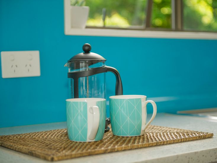 Enjoy a hot cup of coffee while you look out on the view
