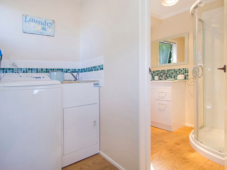 Downstairs bathroom and laundry