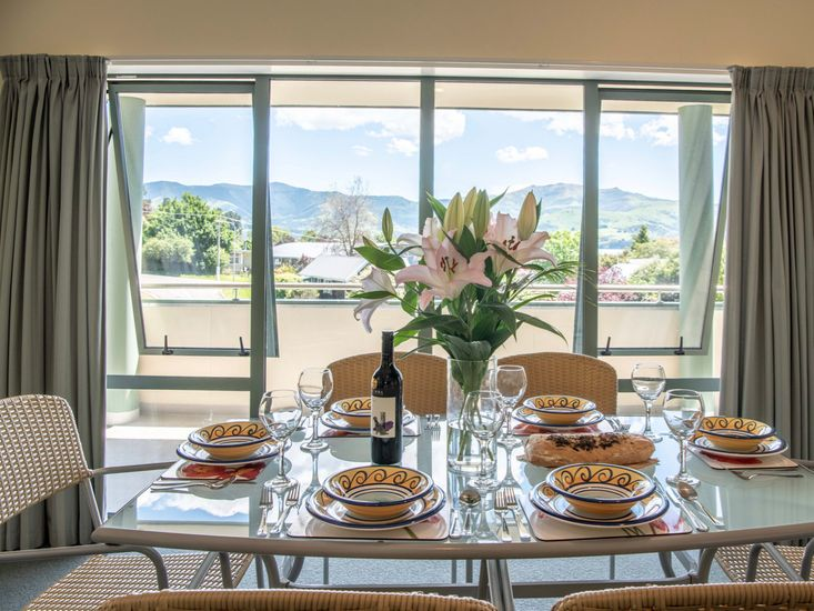 Dining table and views