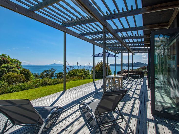 Outdoor living with stunning views of Bream Bay