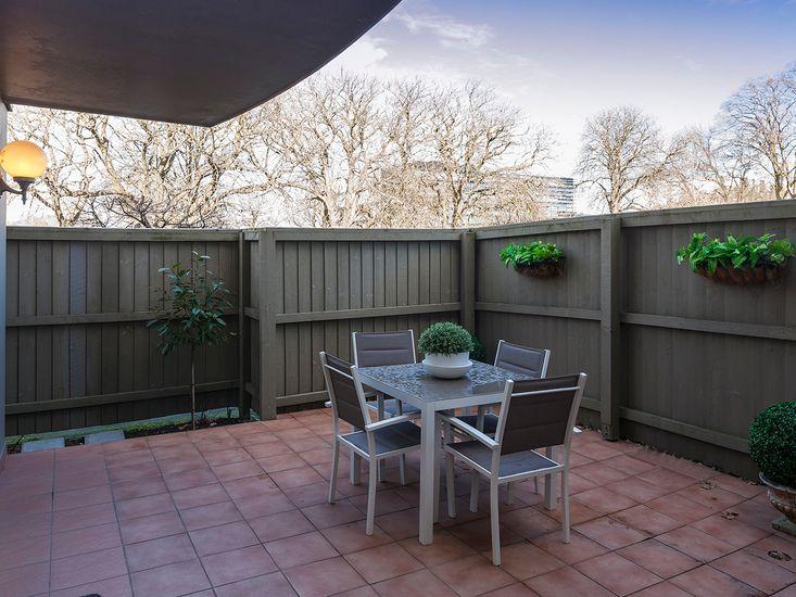 Outdoor patio for alfresco dining
