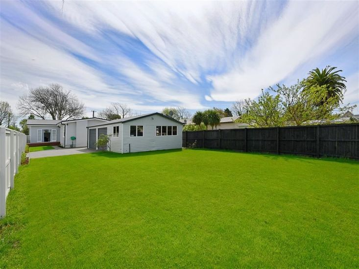 Large flat lawn and section