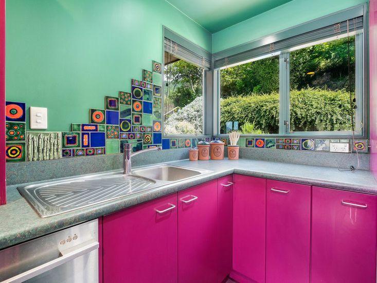 Colourful kitchen!