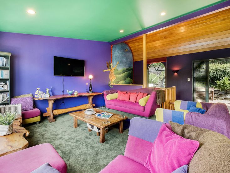 Colourful lounge space