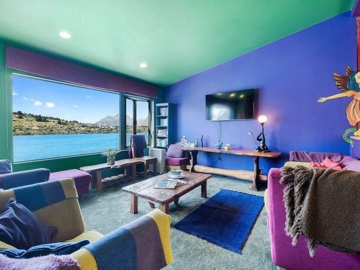 Colourful lounge room