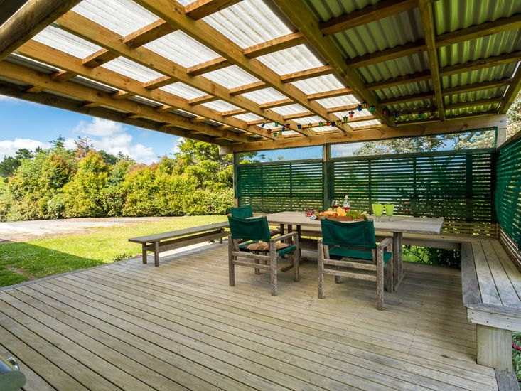 Covered Deck and Outdoor Dining