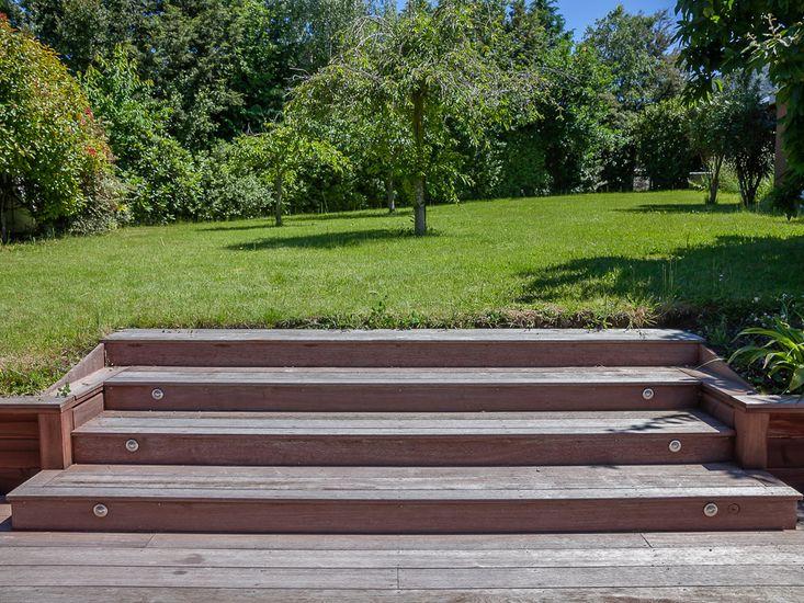 Outdoor patio and access to the garden