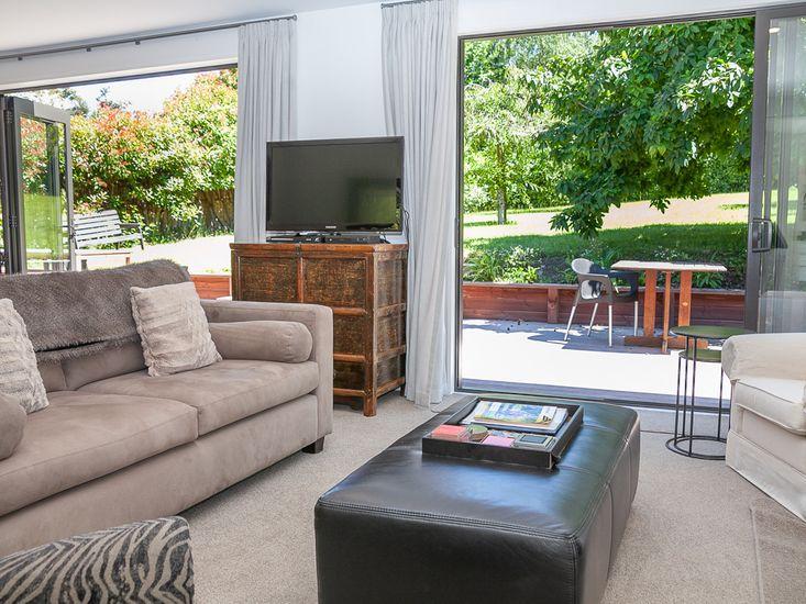 Lounge area opens onto sun deck