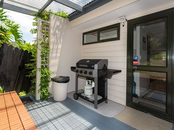 BBQ area on the back deck