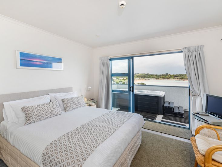 Bedroom One - Opens onto Deck and Spa