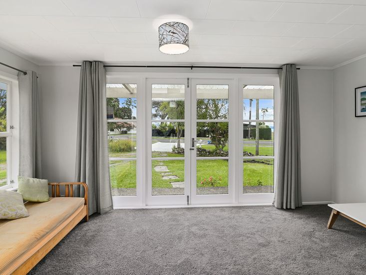French doors opening out to garden