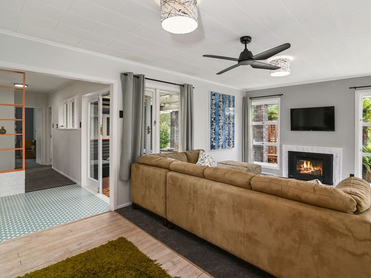 Enjoy relaxing in front of the fireplace