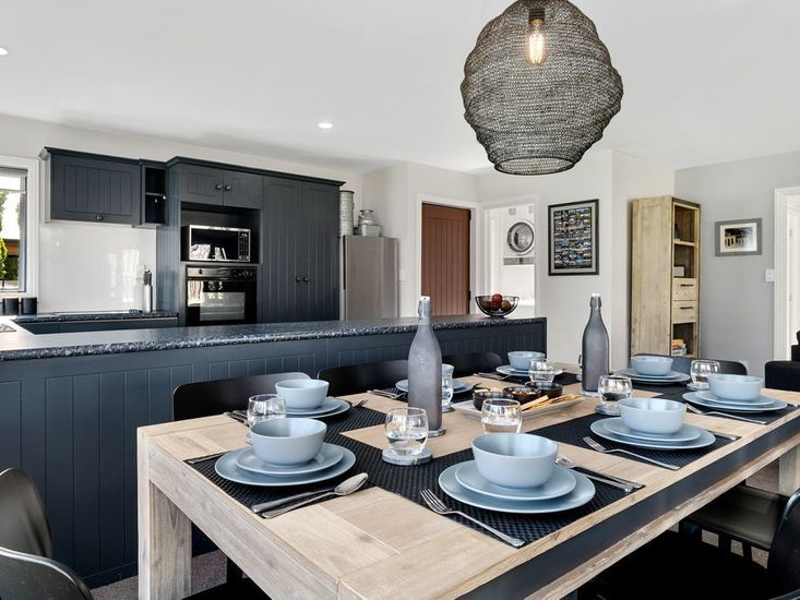 Dining on table onto kitchen