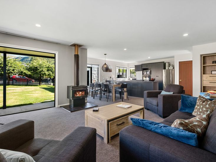 Lounge opens to the garden