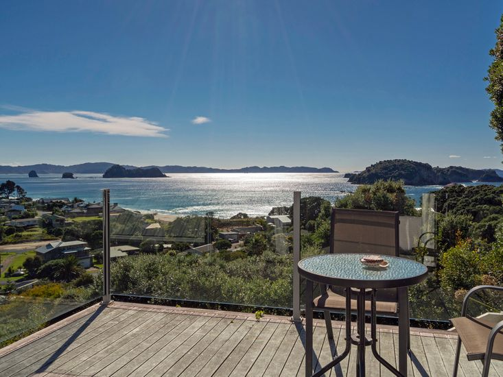 Stunning views from the private deck of the master bedroom
