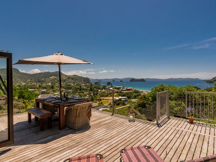 Outdoor living and dining with amazing views!